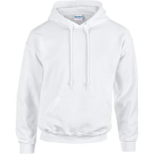 Gildan - Sudadera con capucha para hombre Bianco XX-Large