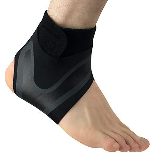 VORCOOL Knöchelbandage Knöchelstütze Fußgelenkschutz Sport Sprunggelenk Unterstützung für Rechts Größe L (Schwarz)