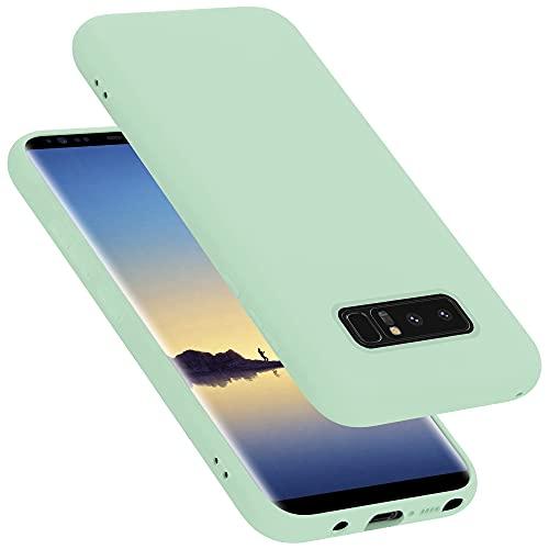 Cadorabo Custodia compatibile con Samsung Galaxy NOTE 8 in LIQUID VERDE CHIARO - Morbida Cover Protettiva Sottile di Silicone TPU con Bordo Protezione - Ultra Slim Case Antiurto Gel Back Bumper Guscio