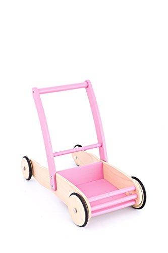 United Kids Lauflernwagen / Laufwagen Mia aus Holz, rosa