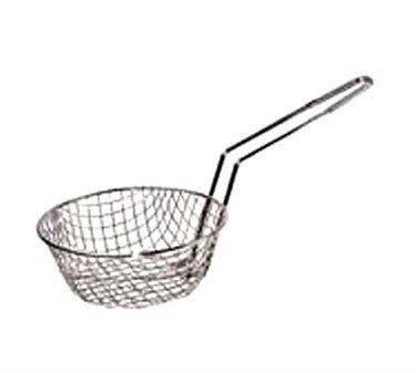 Winco Culinary Basket, 12-Inch Diameter, Coarse Mesh