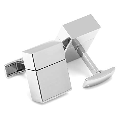 CUFFLINKS INC Stainless Steel 8GB USB Flash Drive Cufflinks (Silver)