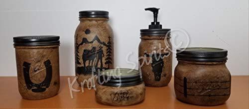 Western Mason Jar Bathroom Set
