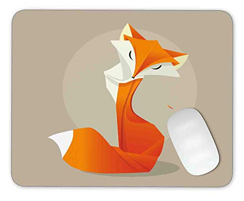 Timing&weng Orange Fox in The Style Mouse pad Gaming Mouse pad Mousepad Nonslip Rubber Backing