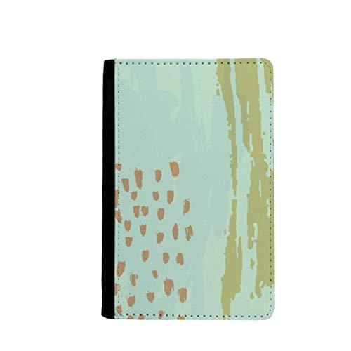 beatChong Matcha Abstrakte Pflanzen-Kunst-Muster-Pass-Halter Travel Wallet Abdeckungs-Fall Karten-Geldbeutel