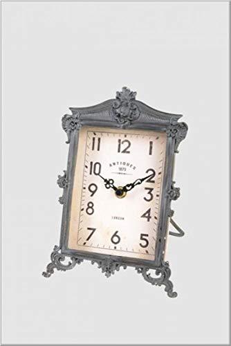 Home Collection Casa Arredamento Decorazione Interni Accessori Orologio da Tavolo in Stile Vintage Ferro Nero