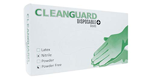 CLEANGUARD Disposable Nitrile Gloves - 100 Pack - Medium