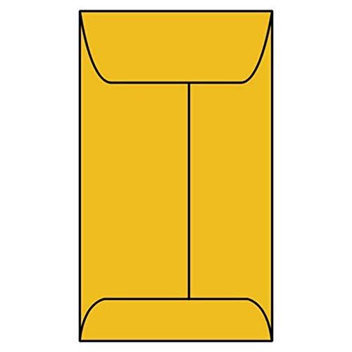 #7H Open End Coin Envelopes, 3-1/2″ x 6-1/2″, 24#, Roptex, Tan/Brown Kraft (Box of 500)