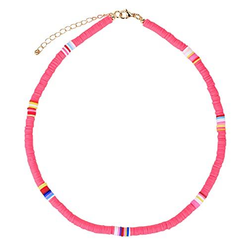 KANYEE Colliers Multicolores Colliers Réglables De Perles HEISHI Faits à La Main Colliers Ras du Cou D'amitié pour Femmes-02A
