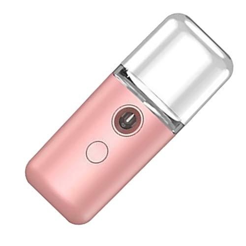 Vkospy Nebel Sprüher USB aufladbare Dampfer Luftbefeuchter Nebelsprüher USB Luftbefeuchter Gesichtspflege Tief Feuchtigkeitsspend Atomizer, Rosa Rosa