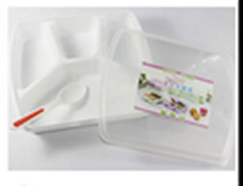 JSJJAOL Scatola da Picnic Forno a microonde di frumento Bento Pranzo Box Picnic Food Fruit Box Contenitore Contenitore per Bambini Caso per Adulti Container Dinner Organizer (Color : 4 grids White)