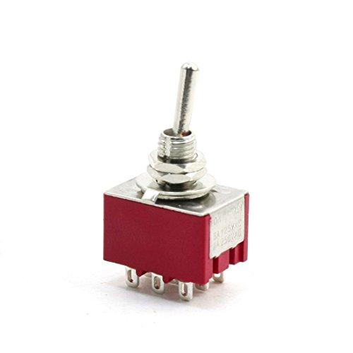 AC250 V 2 A AC125 V 5 A 9 Pin 2 Posición On/On 3PDT interruptor de palanca de