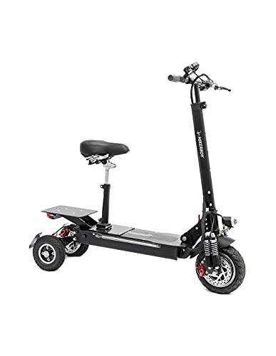 Patinete eléctrico de 3 ruedas estable para PMR con asiento para personas con movilidad reducida, 800 W todo terreno, Off Road