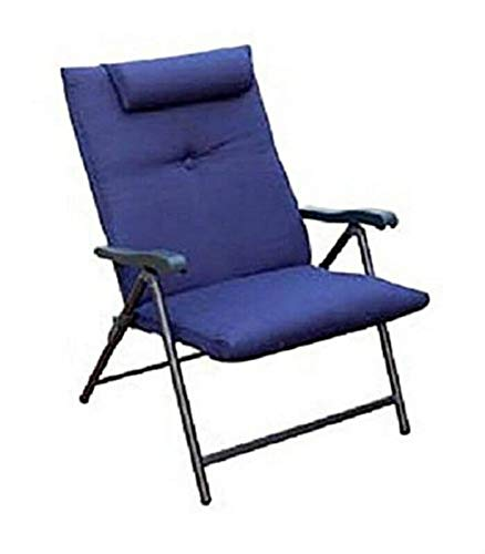 Prime Products 13-3372 Blue Prime Plus Folding Chair