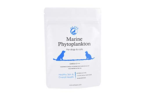 Mr Ros Marine Phytoplankton Natural Omega 3 Vegetarian Alga Powder for Dogs Shiny Coat, Joint and Brain Health