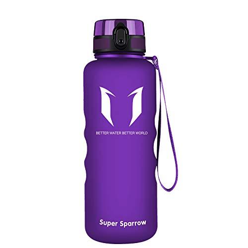 Super Sparrow Botella de Agua Deportiva -350ml & 500ml & 750ml & 1000ml & 1.5l - Sin BPA