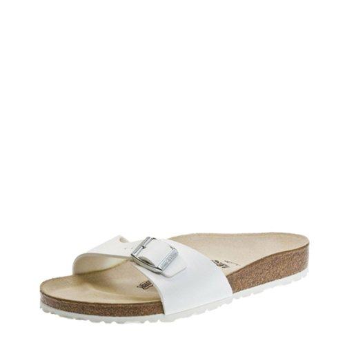 Birkenstock Madrid Birko-Flor Femmes White Sandals, UK 6