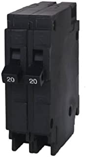 Siemens Q2020 Two 20-Amp Single Pole 120-Volt Circuit Breakers, for use only where Type QT breakers are allowed
