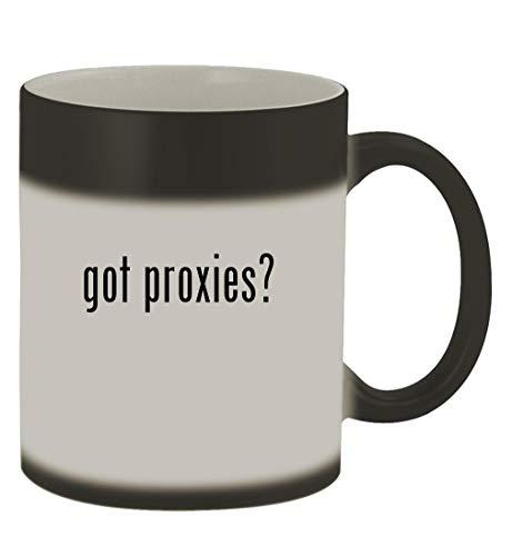 got proxies? - 11oz Magic Color Changing Mug, Matte Black