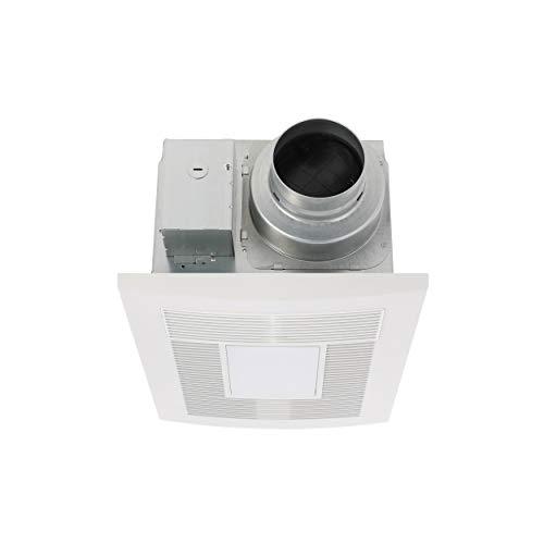 Panasonic FV-0511VHL1 WhisperWarm DC Bathroom Fan with Light and Heater, 50-80-110 CFM