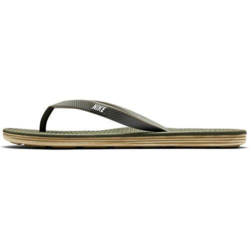 Nike Solarsoft Thong 2, Zapatillas de Deporte para Hombre, Gris/Negro (Carbon Green/Tmbld Gry-Wht-BMB), 38.5 EU