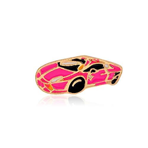 JTXZD Broche Car Rose MOM Lischoenen met hoge hakken broches aan stiften denim Jacket Pin Badge voor Bag T-shirt