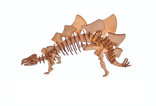 Quebra Cabeça Dinossauro 3D em Madeira MDF Brinquedo Infantil (Estegossauro)
