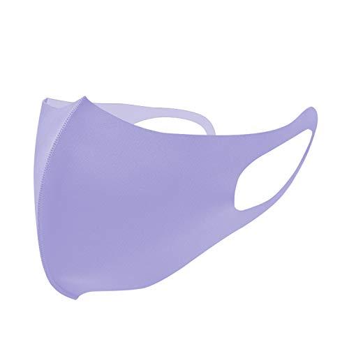 Spinningdaisy Unisex Reusable Anti-Dust Protective Neoprene Face Masks Lavender Regular 1 Pack