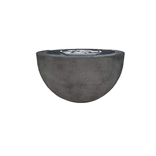 Great Deal! Prism Hardscapes Moderno 3 Electronic Ignition Concrete Gas Fire Pit (PH-402-2LP-WBECS),...
