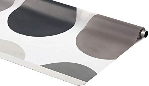 KSHANDEL24 ERSATZROLLE HALB-Kassetten DUSCHROLLO Retro Design 140x240 cm EINFACHER WECHSEL