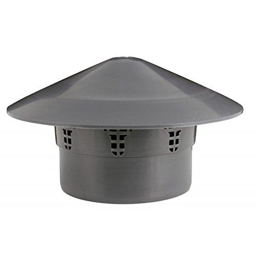 Avloppsrör terminal ventil avlopp luftare jordsystem luftventil grill tub täcklock (75 mm, grå)