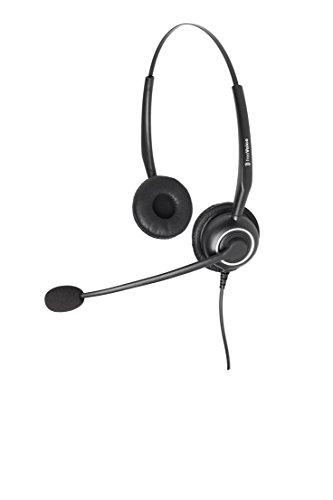 freeVoice SoundPro 350 Duo UNC (QD), FSP350B, Profi Headset, drahtgebunden für Tischtelefone, Profi Headset, drahtgebunden für Tischtelefone, Call Center Headset mit Ultra Noise Cancelling Mikrofon
