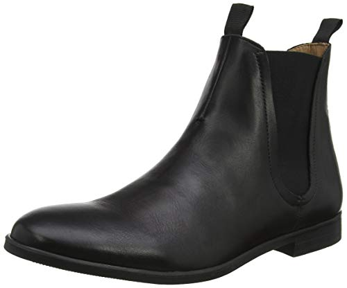 H by Hudson Herren Atherstone Chelsea Boots, Schwarz (Black 01), 43 EU