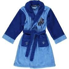 Kinder Bademantel Ritter blau (Größe: 122/128)