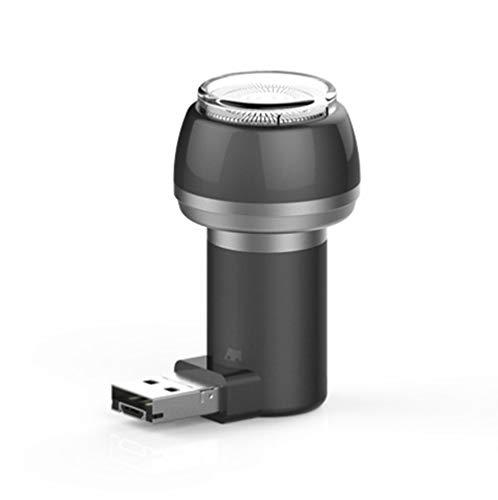 JUNSHUO Elektrisch scheerapparaat reisscheerapparaat mini draagbare Android Ios telefoon scheerapparaat en powerbanks outdoor miniatuurtrimmer unisex Grijs USB + micro