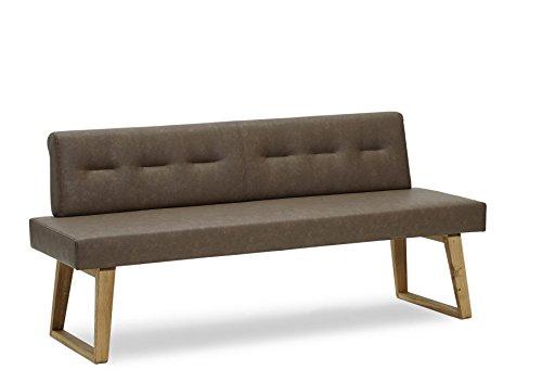 Natuurdicht meubels zitbank Divine van leer en massief hout, wildeiken. Geen massaproduct!