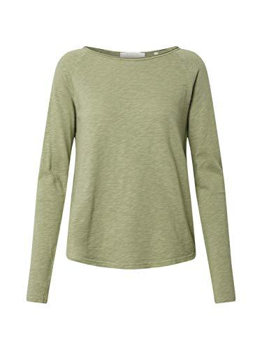 rich&royal Damen Heavy Jersey Longsleeve Langarmshirt, Grün (Safari Green 454), Medium (Herstellergröße: M)
