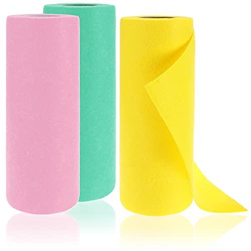 com-four® 60x Reinigungstuch - Haushaltstücher aus Viskose - Saugfähige, strapazierbare Allzweck-Wischtücher - Wiederverwendbare Putzlappen [Auswahl variiert] (Set 4 - Putztücher 60 Stück)