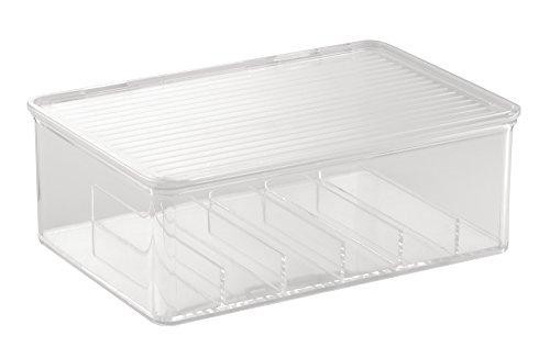 InterDesign 39540EU Clarity Nagellack und Kosmetik-Box mit Deckel, durchsichtig
