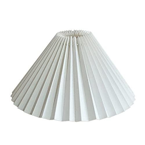 ASDFK Plissierter Lampenschirm, E27 Lichtabdeckung Japanischer Stil Stoff Tischlampe Decken Deko
