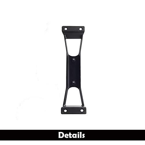 Kevariy JK Door Hinge Foot Steps, 2pcs Door Drilling Hollow Metal Door Hinges Folding Foot Pedal Pegs to Rooftop Accessories Compatible with Jeep Wrangler JK JKU 2007-2017 (Black)