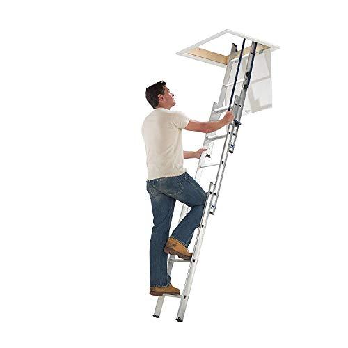 Abru Dachbodenleiter 3-teilig leicht verstaubar