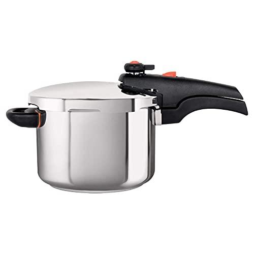 Meyer Presta Induction Base Stainless Steel Pressure Cooker, 5 Litres, Grey