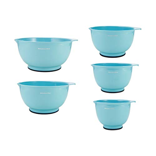 KitchenAid Classic Mixing Bowls, Set of 5, Aqua Sky 2
