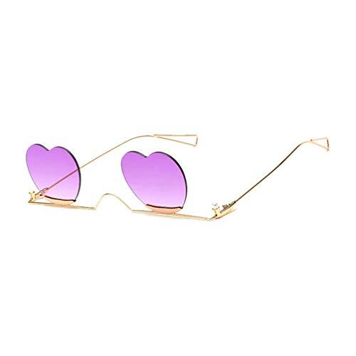 TOYANDONA Partij Zonnebril Brillen Hartvormige Aankleedbrillen Rekwisieten Nieuwigheid Zonnebril Glazen Voor Verjaardag Afstuderen Partij Gunst Leveranciers Paars