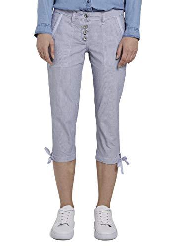 TOM TAILOR Freizeithose Pantaloni, 12320/Thin Stripe Pants, 40 Donna