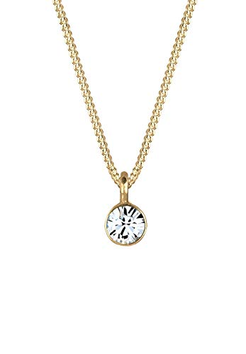Elli Halskette Damen Basic Solitär mit Swarovski® Kristall in 925 Sterling Silber