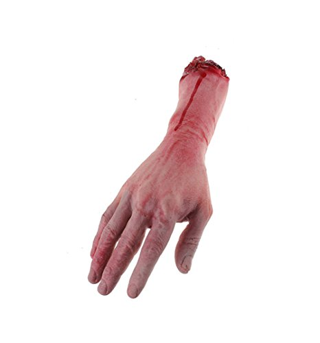 Vivian Horror Bloody Realistic Prosthetic Fake Human Body Parts Creepy Severed Arm Broken Hand Trick Scary Halloween Decoration Props