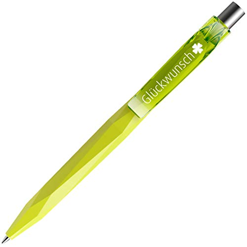 immi 1 St. Glückwunsch Kugelschreiber Grün Glücks-Klee Prodir SoftTouch 1.4, Bl.Mine