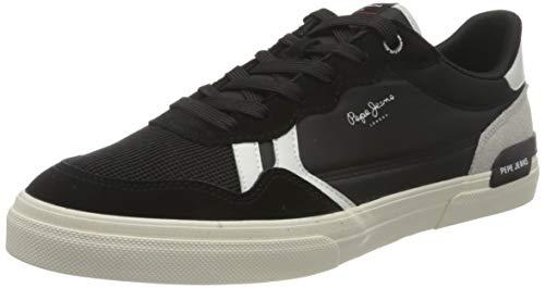 Pepe Jeans Herren Kenton Britt Man Sneaker, 999black, 44 EU